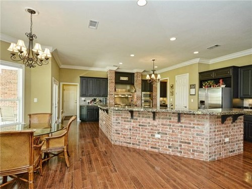 ... On Each Side Of Used Brick Fireplace With Raised Hearth. Can You  Suggest What Type And Color Of Countertop And Backsplash Would Work Well In  My Kitchen?