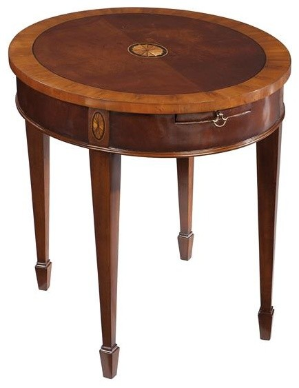 Hekman Copley Place Oval Lamp Table In Copley Traditional Side Tables And