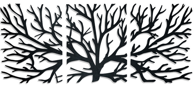 Crawling Branches 3 Piece Metal Wall