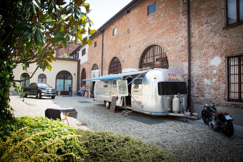 allestimento evento Denim Boulevard presso Fonderie Napoleoniche Milano