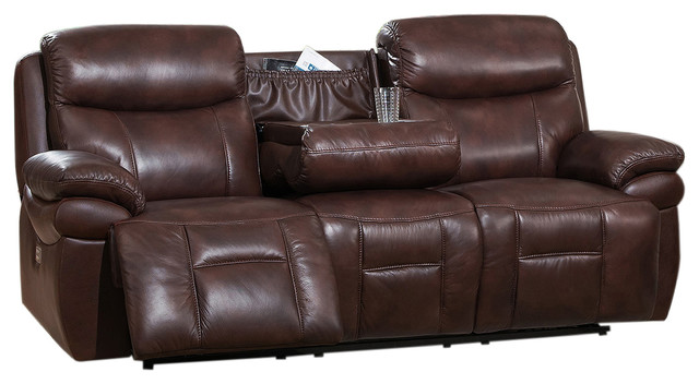 York Reclining Leather Sofa Transitional Sofas By