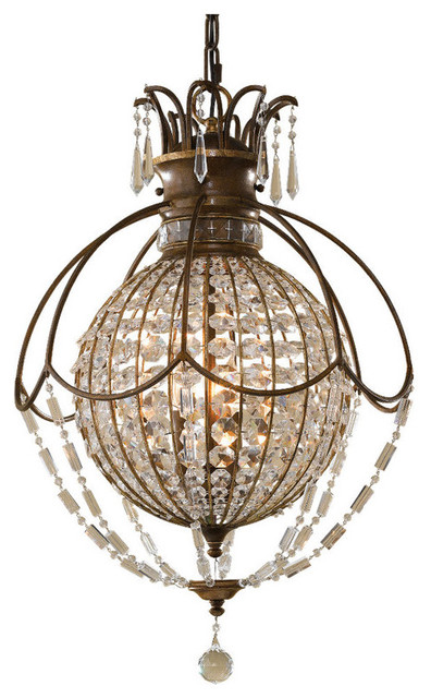Feiss Bellini 3- Light Hall - F2504/3OBZ/BRB - 18 in. x 26.75 in.