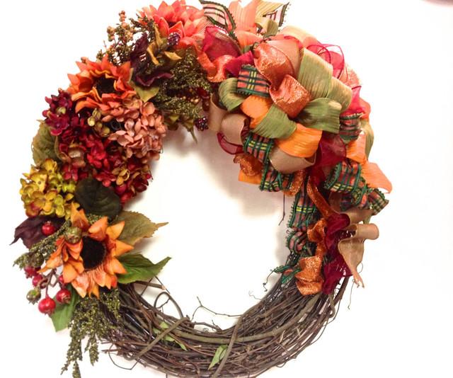 Fall Wreath Thanksgiving Silk Fl