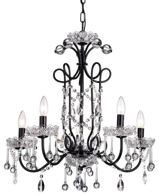 Black vintage chandelier thejots light black vintage crystal chandelier ceiling fixture lighting ideas mozeypictures Choice Image