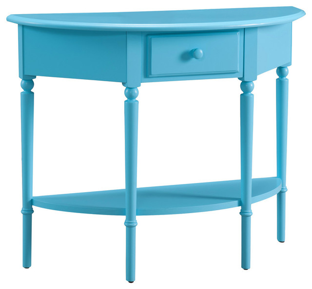 Great Leick Coastal Notions Console Table With Shelf, Regatta Blue Eclectic  Console Tables