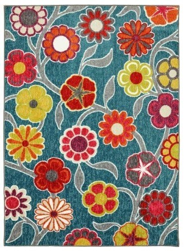 Flower Area Rug Home Decor