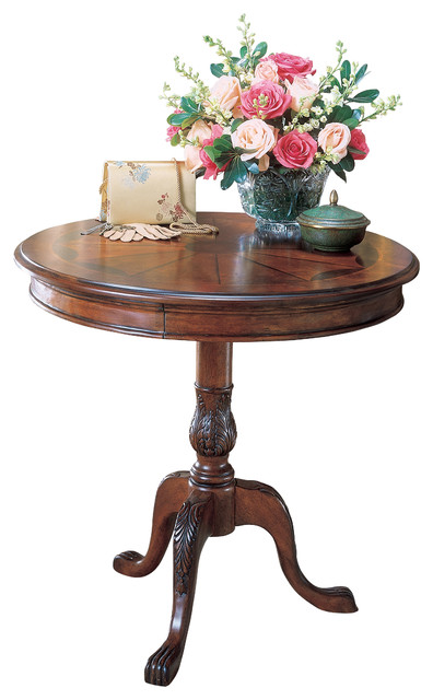 Round Pedestal Table Traditional Side Tables And End Tables