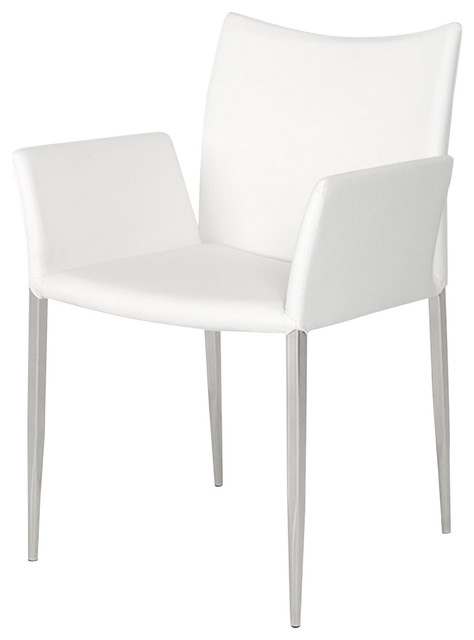Modrest Avril Modern White Leatherette Dining Chair Contemporary