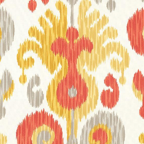 Orange Ikat Indoor Outdoor Fabric
