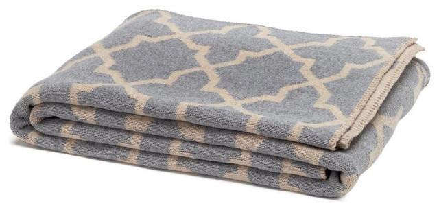 Aluminum/Flax Reversible Morocco Blanket