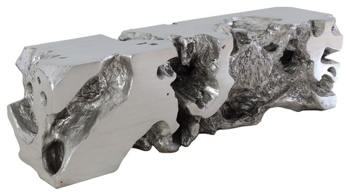 Freeform Bench, Silver Leaf
