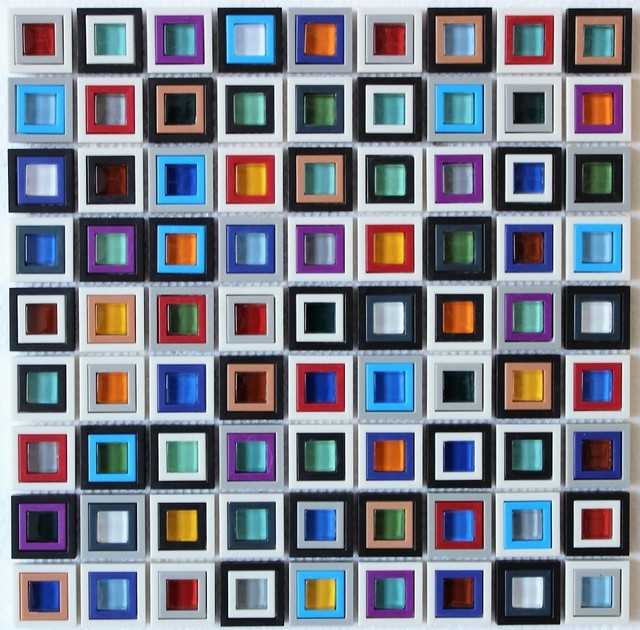 12 X12 Windows Square Gl Mosaic Backsplash Wall Tile