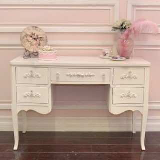pictures of white kitchen cabinets chic white 5 drawer desk with lovely appliques 24713