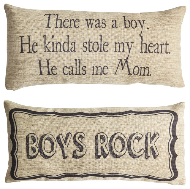 Boys Rock Son Boys Quote Gifts Double Sided Pillow.