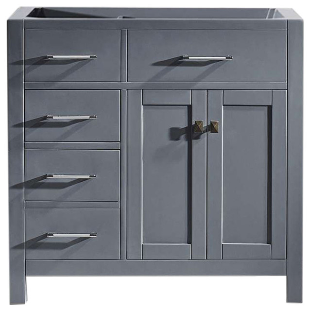 Terrific Caroline Parkway 36 Vanity Cabinet Only Gray Drawers Left Download Free Architecture Designs Boapuretrmadebymaigaardcom