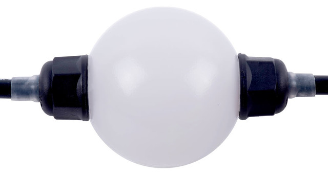 250mm Rgb Opaque Sphere 15-Leds 1.8 Watts.