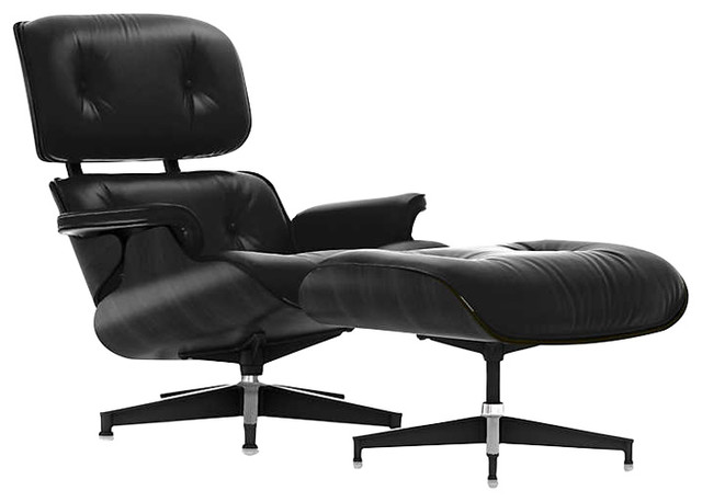 Eames Tall Lounge Chair And Ottoman Ebony By Herman Miller