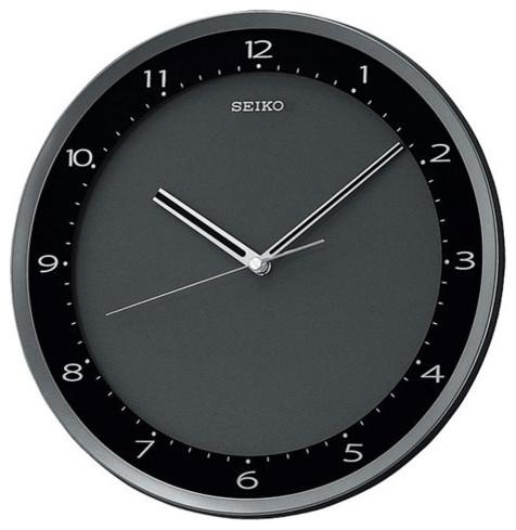 shop houzz seiko clock seiko black metallic wall clock