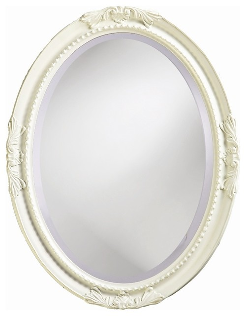Shabby Chic Wall Mirror queen ann mirror in bright white - shabby-chic style - wall
