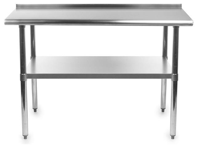 48x24 Stainless Steel Kitchen Restaurant Prep Work Table With Backsplash.