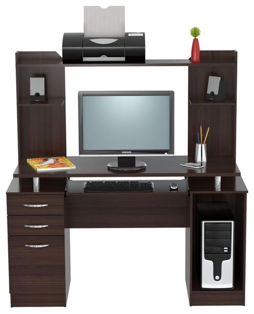 Maddox Storage Desk And Hutch Espresso