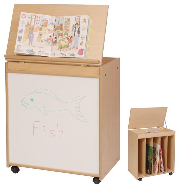 Steffywood Kids Home Learning Mobile Big Book Holder Display Storage Art Easel