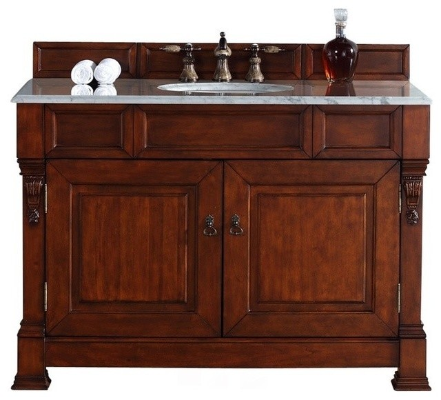 """48"""" Vanity Cabinet, Warm Cherry - Traditional - Bathroom Vanities And Sink Consoles - by Luxury ..."""