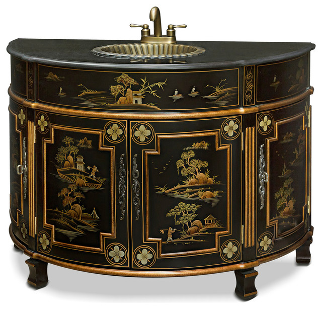 Chinoiserie Victorian Vanity Asian Bathroom Vanities And Sink