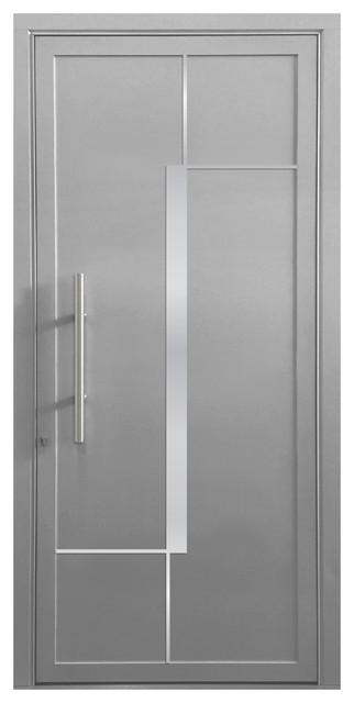 """Orion Aluminum Door, 32""""x81"""", Silver Gray."""
