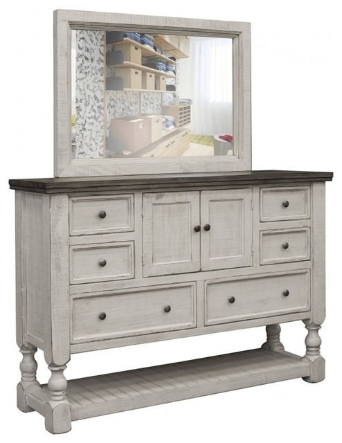 Stonegate Rustic Solid Wood 6 Drawer 2