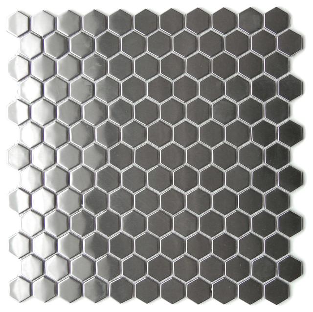Honeycomb Hexagon Mosaic Stainless Steel Tile Sample contemporary mosaic  tile. Honeycomb Hexagon Mosaic Stainless Steel Tile Sample
