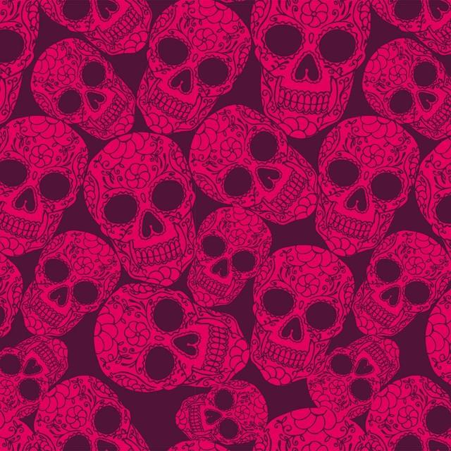 Design Your Wall Sugar Skull Plum Wallpaper Tiles
