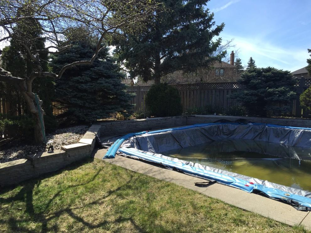 Vaughan Backyard Before of Pool area