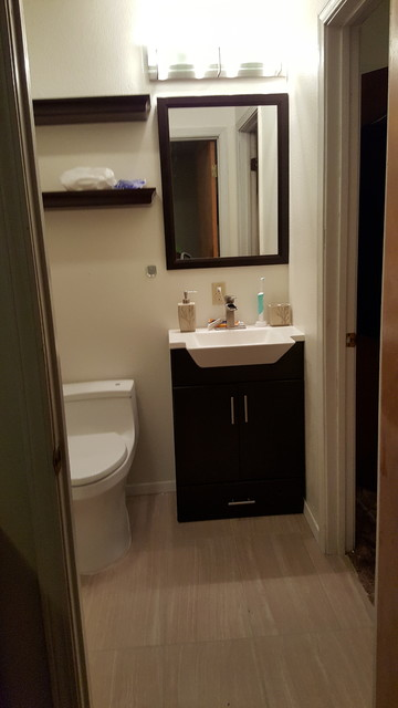 Jack n jill bathroom remodel transitional little rock - Jack n jill bath ...