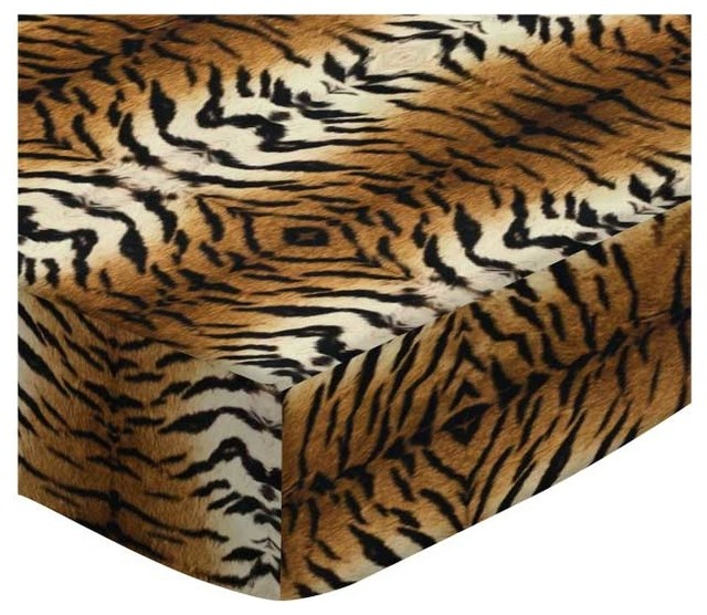 SheetWorld Fitted Crib/Toddler Sheet, Tiger, Made In USA