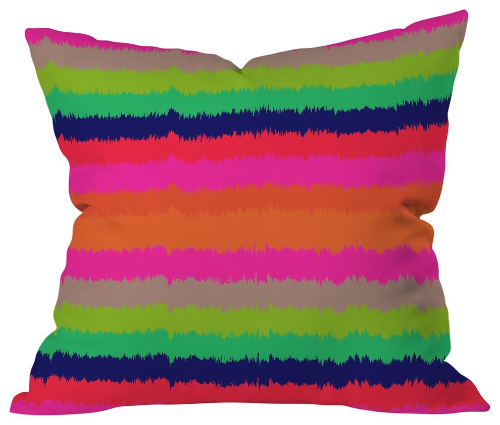 20 x 20 Deny Designs Holli Zollinger Bright Stripe Outdoor Throw Pillow