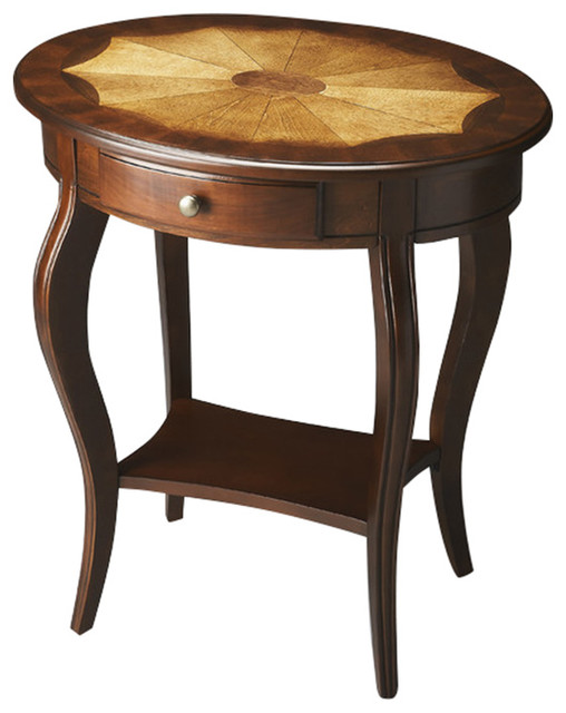 Oval accent table traditional coffee tables by furniture east inc Traditional coffee tables and end tables