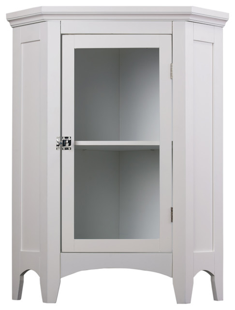 Elegant Home Fashions Madison 1 Door Corner Floor Cabinet In White Transitional Bathroom Cabinets By Elegant Home Fashions