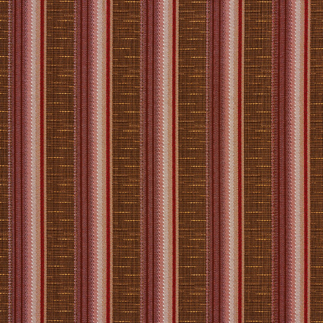 Red Pink and Brown Contemporary Tweed Striped Upholstery Fabric By ...