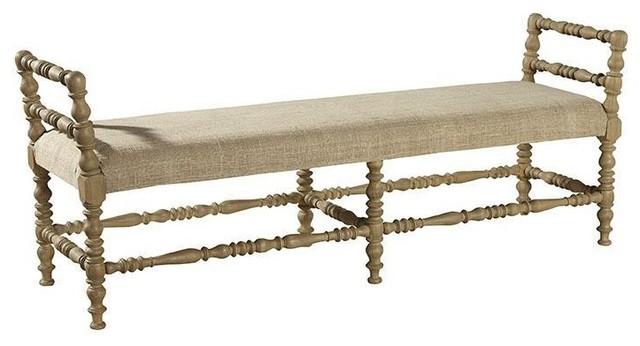 Furniture Classics Martini Turned Leg Bench. -1