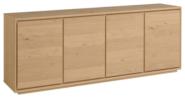 Stockholm Solid French Oak Sideboard With 4 Doors