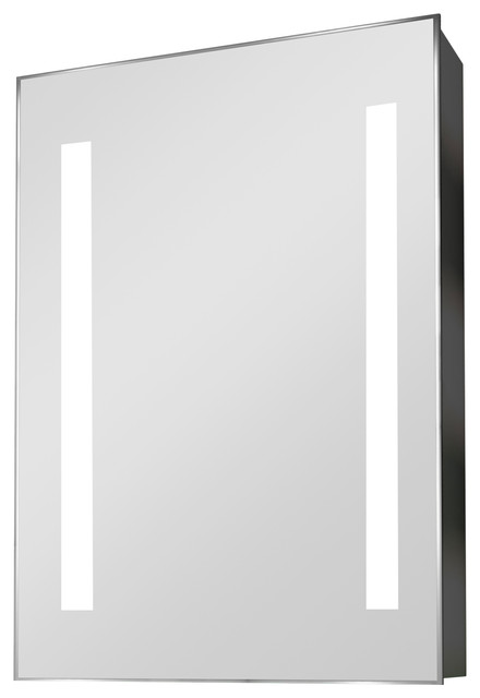 Demisting Mirrored Medicine Cabinet With Led Strip Border, Without Speakers.