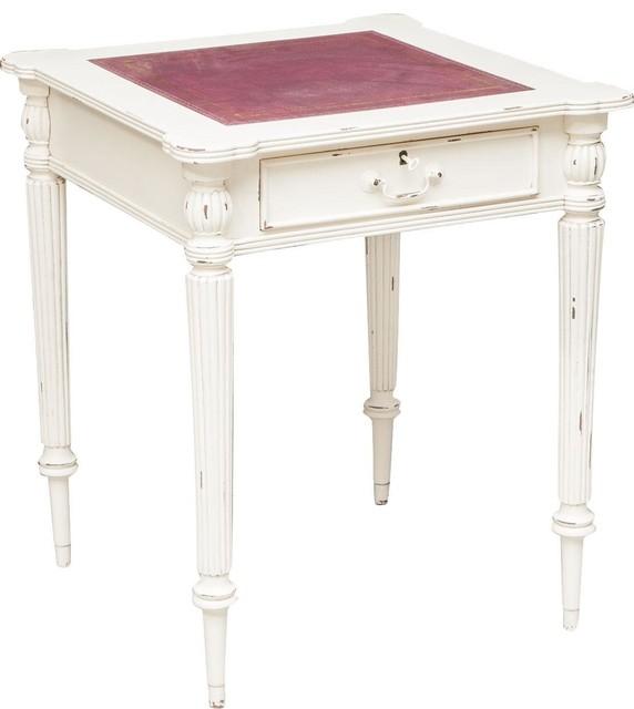 Mahogany Writing Desk, White