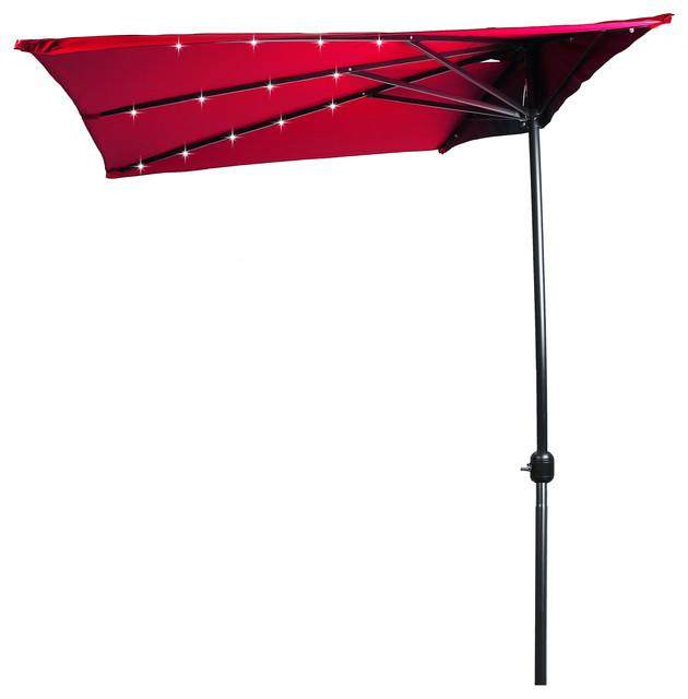 5 39 led rectangular patio half umbrella contemporary