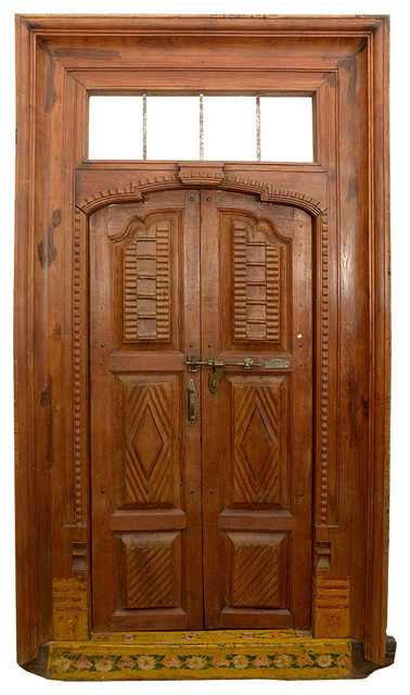 Outstanding 19th century antique reclaimed wood indian for Doors design indian style