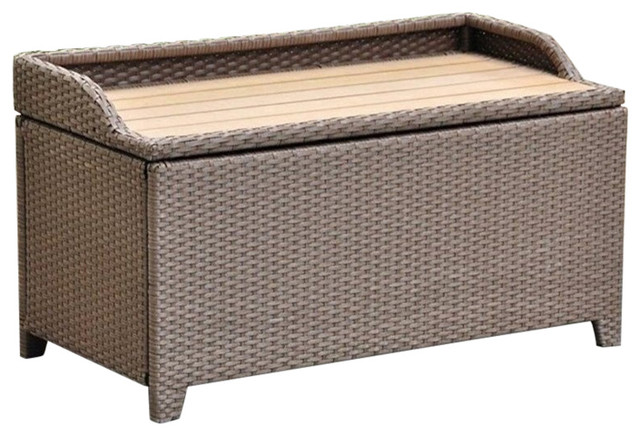 Brilliant Pemberly Row Patio Storage Bench Antique Brown Forskolin Free Trial Chair Design Images Forskolin Free Trialorg