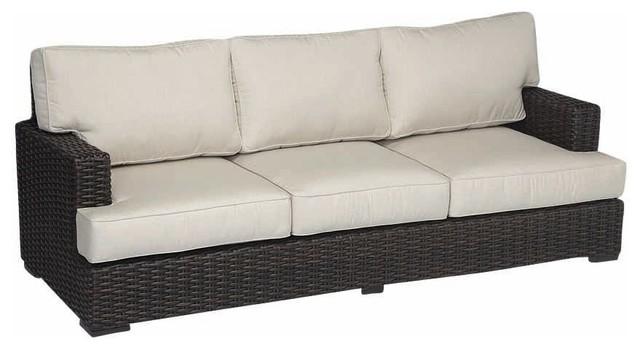 Cardiff Sofa With Cushions, Cushions: Canvas Flax.