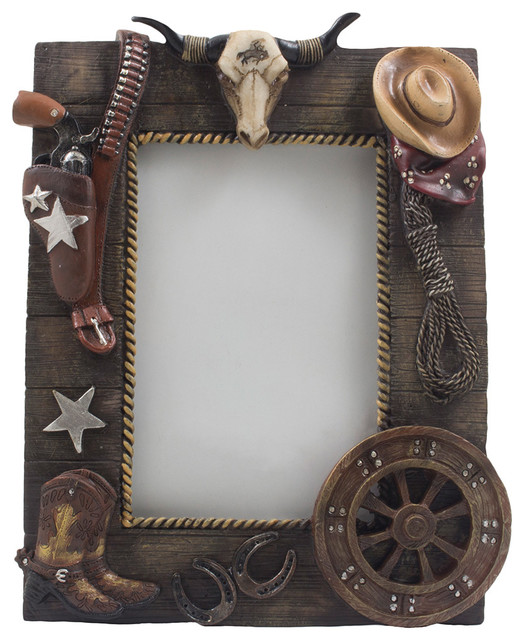 Wild West Desktop Photo Frame 4 X8 Southwestern Picture Frames By Home N Gifts