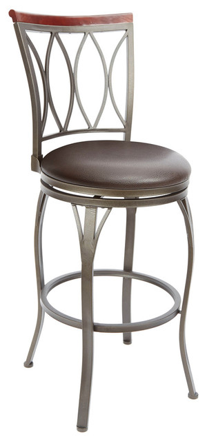 Cheyenne Products Eyelet Back Barstool With Curved Legs