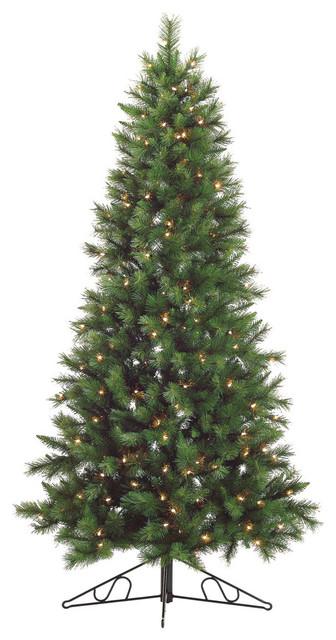Canyon Pine Half Wall Or Corner Christmas Tree With Clear Lights 6 5